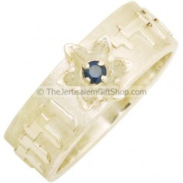 Ani ledodi Vedodi Li with Sapphire Engagement Ring
