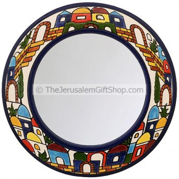 Armenian Ceramic Jerusalem Mirror