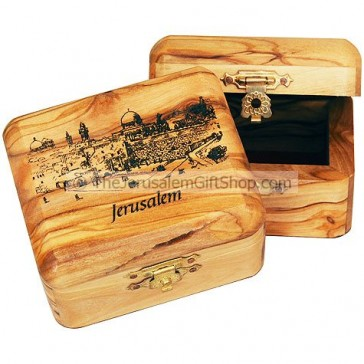 Olive Wood Western Wall Box