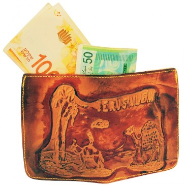 Camel Leather Wallet from the Holy Land