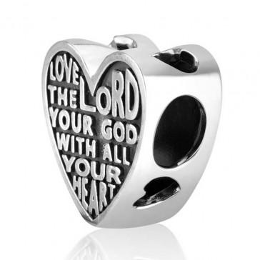 `GraceLet` Bracelet - Love the LORD Deuteronomy Scripture Heart