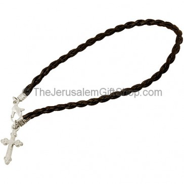 Friendship Cross Bracelet - Black