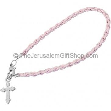 Friendship Cross Bracelet - Pink