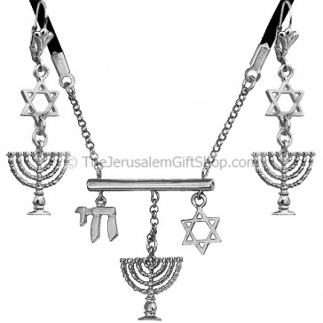 Edita Designs Israeli Pendant Earring Set - Oxidized