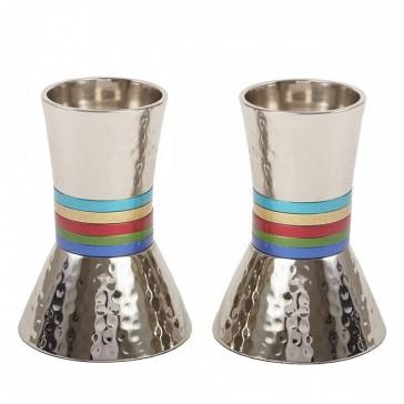 emanuel-hammered-nickel-candlesticks-multicolored