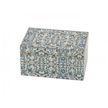 Yair Emanuel Decorated Wooden Jewelry Box - Flowers