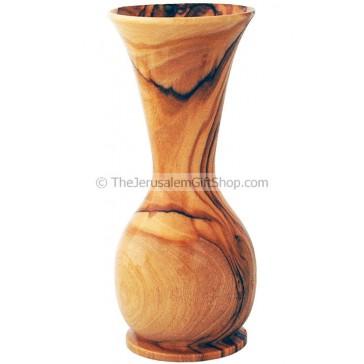 Flower Vase - Olive Wood - tall