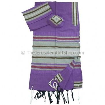 Gabrieli Cotton Tallit - Purple