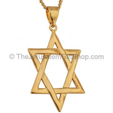 Goldfill Interwoven Star of David Pendant by 'Marina'