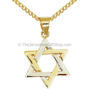 Star of David Two-Tone Gold Filled Pendant