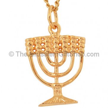 Gold Fill Menorah Pendant by Marina