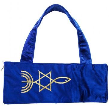 Velvet 'Grafted In' Messianic Seal of Jerusalem Shofar Bag