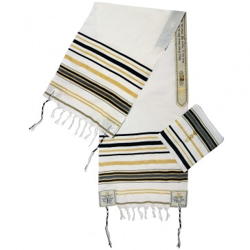 Grafted In Prayer Shawl Tallit - Black and Gold