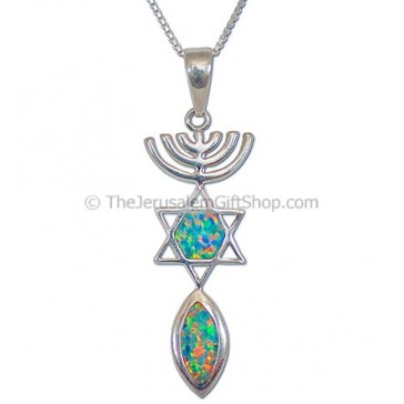 Grafted in Opal Pendant - large
