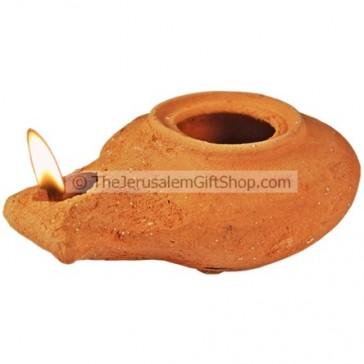 Clay Oil Lamp - Herodian - replica