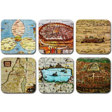 Ancient Israel Maps Coaster Set