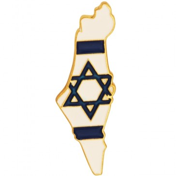The State of Israel Lapel Pin Badge with Israeli Flag