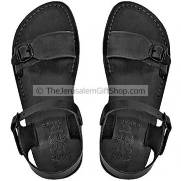 Black leather Biblical Jerusalem Sandals