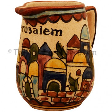 Jerusalem Armenian Milk Jug - Earth Tan