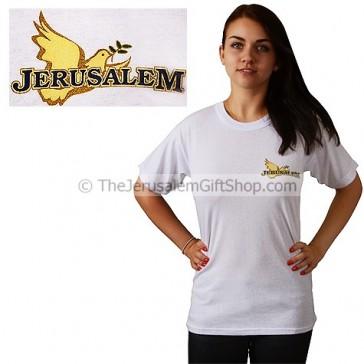 Jerusalem with Dove Tshirt - small print