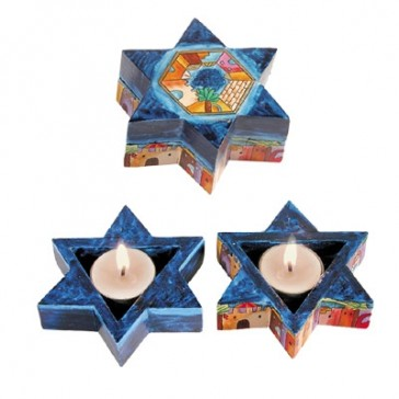 Yair Emanuel Star of David Candlesticks - Jerusalem