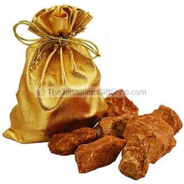 Stones from Jerusalem in Golden Bag