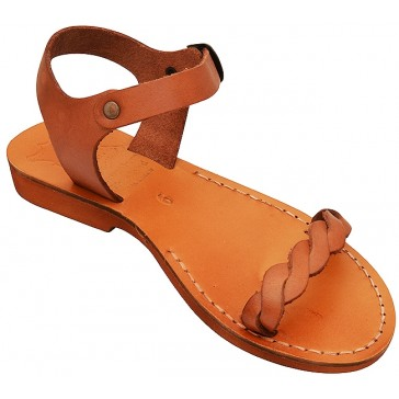 Jesus Sandals - Gethsemane - Handmade from Leather in the Holy Land