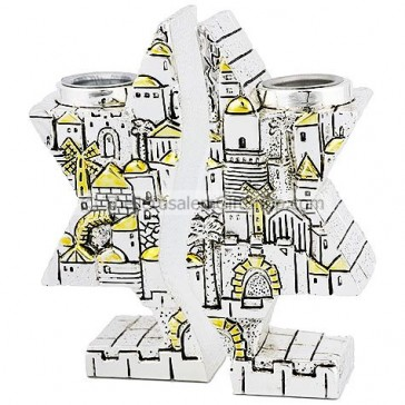 Star of David Jerusalem Candle Holders