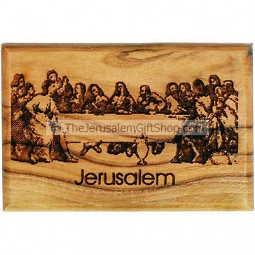 Olive Wood Magnet - The Last Supper