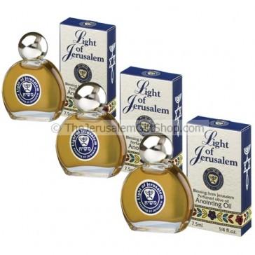 Light of Jerusalem Anointing Oil - Value 3 Pack