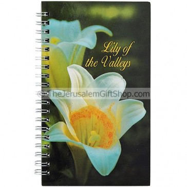 Spiral Hard Cover Notebook - Lily of the Valley