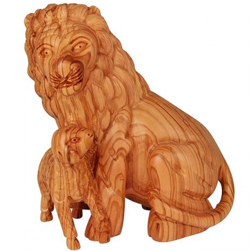 The Lion of Judah and The Lamb of GOD - Olive Wood Ornament - Made in Bethlehem
