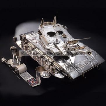Merkava Tank by Itzhak Luvaton - Sterling Silver