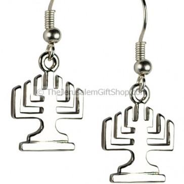 Menorah Earrings