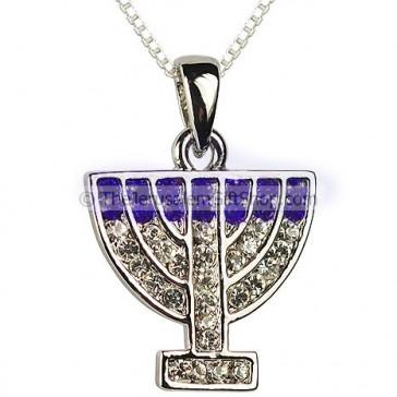 Menorah Pendant with CZ stones