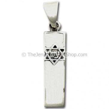 Mezuzah pendant - star of david