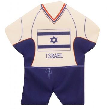 Mini Soccer T-Shirt - Israeli Flag - Window Suction - Wall Hanging