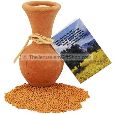 Mustard Seeds in Clay Pot