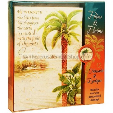 12 Scripture Notecards and Envelopes - Palms and Psalms