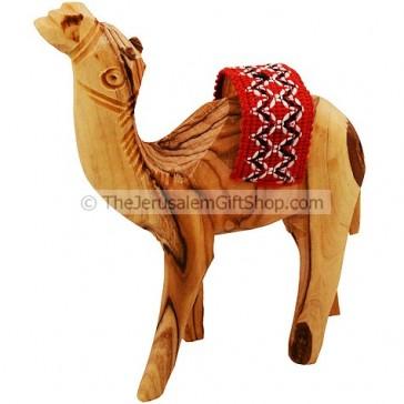 Olive Wood Camel with Saddle