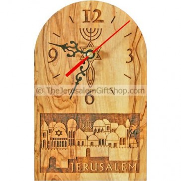 Grafted in Olive Wood Clock