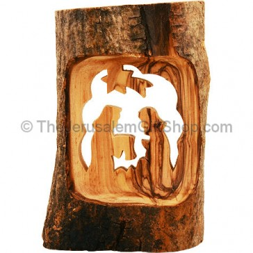 Olive Wood Branch - Nativity Scene
