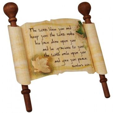 Biblical Scripture on Real Papyrus - Priestly Blessing - Aaronic Benediction - Numbers 6:24-26