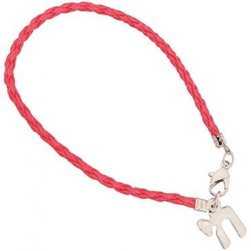 Chai - 'Life' Bracelet in Red