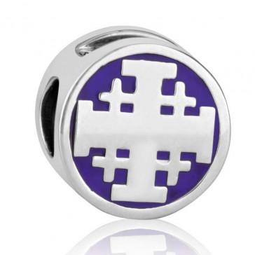 'GraceLet Bracelet' - Jerusalem Cross in Royal purple by Marina