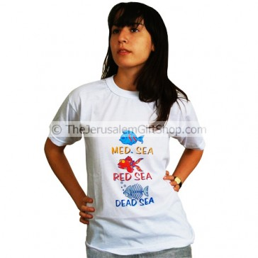 Med Sea Red Sea Dead Sea TShirt