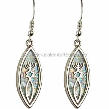 Grafted in Roman Glass Earrings