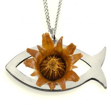 The Rose of Bethlehem Silver 'Ichthus' Pendant