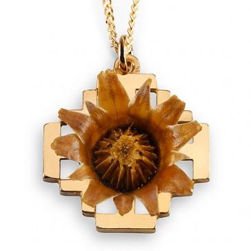 The Rose of Bethlehem Goldfill 'Jerusalem Cross' Necklace