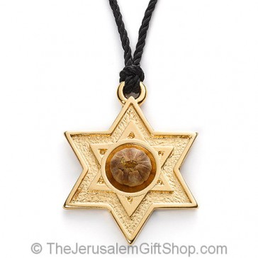 The Rose of Bethlehem Gold 'Star of David' Cord Necklace